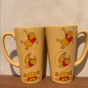 The Disney Store Tall Mugs Winnie The Pooh